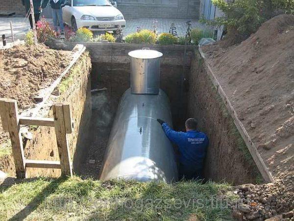 Для хранения жидкого топлива требуется большой резервуар