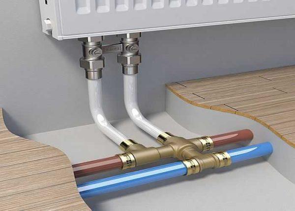 Разводка отопления металлопластиковыми трубами делается только на пресс-фитингах