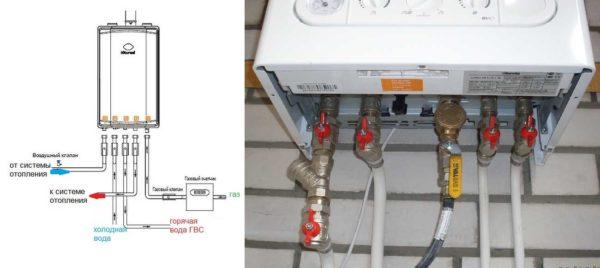 Пример обвязки настенного газового котла