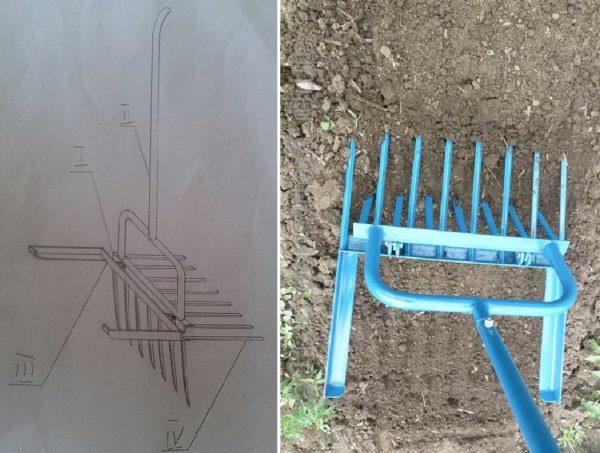 Рыхлитель чудо-лопата для легкой обработки земли