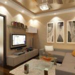 Для строгих стилей лучше подбирать линейное расположение светильников на потолке