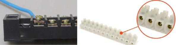 Соединение проводов в клеммных колодках