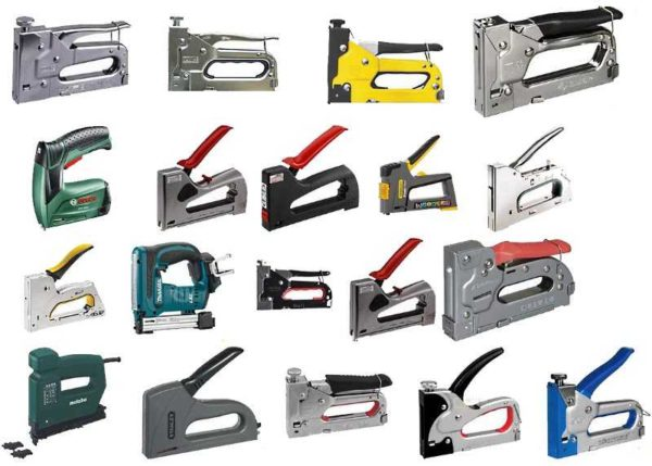 """Строительных степлеров имеется очень много. Только """"приводов"""" три - работать они могут от силы рук, электричества и сжатого воздуха"""