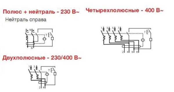 Обозначение дифавтоматов на схемах