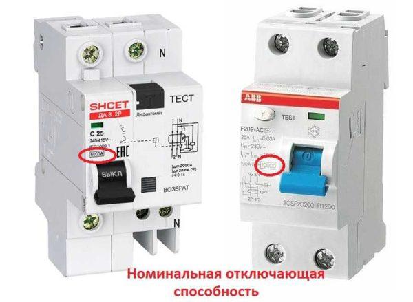 Отключающая способность дифавтомата