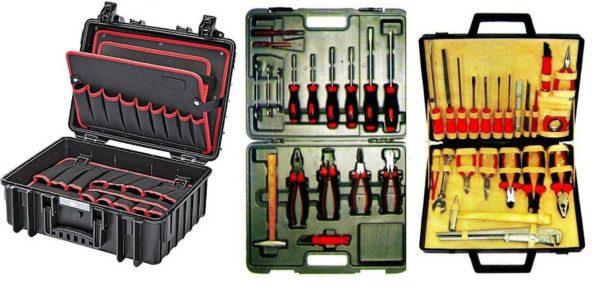 Несколько примеров того, как может храниться инструмент электрика