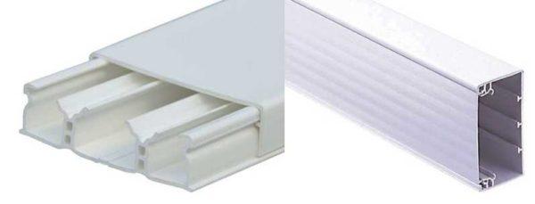 Некоторые виды кабель каналов могут быть разделены внутри перегородками