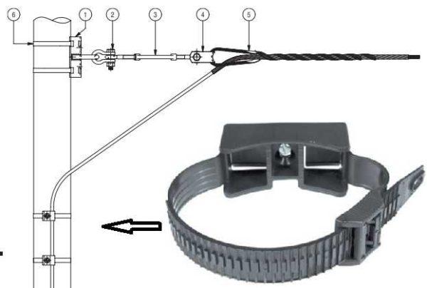 Один из способов опустить кабель вдоль железобетонного столба