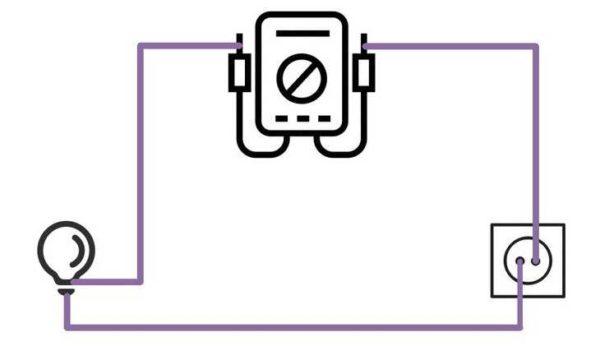 Схема измерения переменного тока