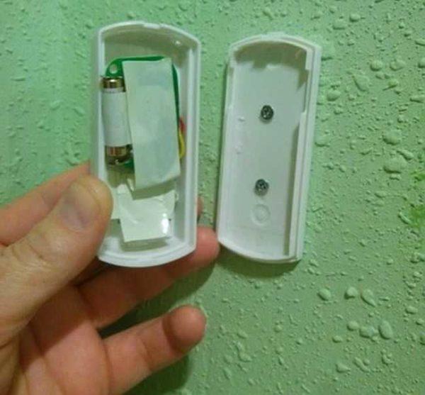 Примерно так будет выглядеть беспроводная кнопка для звонка в разобранном состоянии