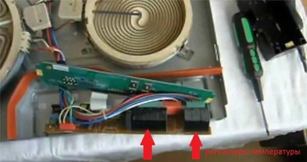 Где найти терморегуляторы на варочной панели