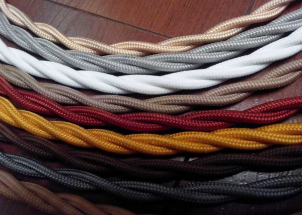 Витой кабель для ретро-проводки