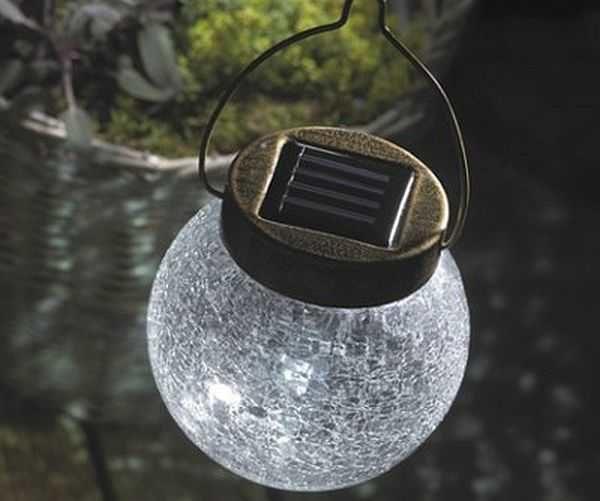 Интересные подвешиваемые светильники на солнечных батареях