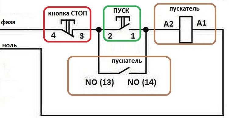 Монтажная схема подключения магнитного пускателя фото 3
