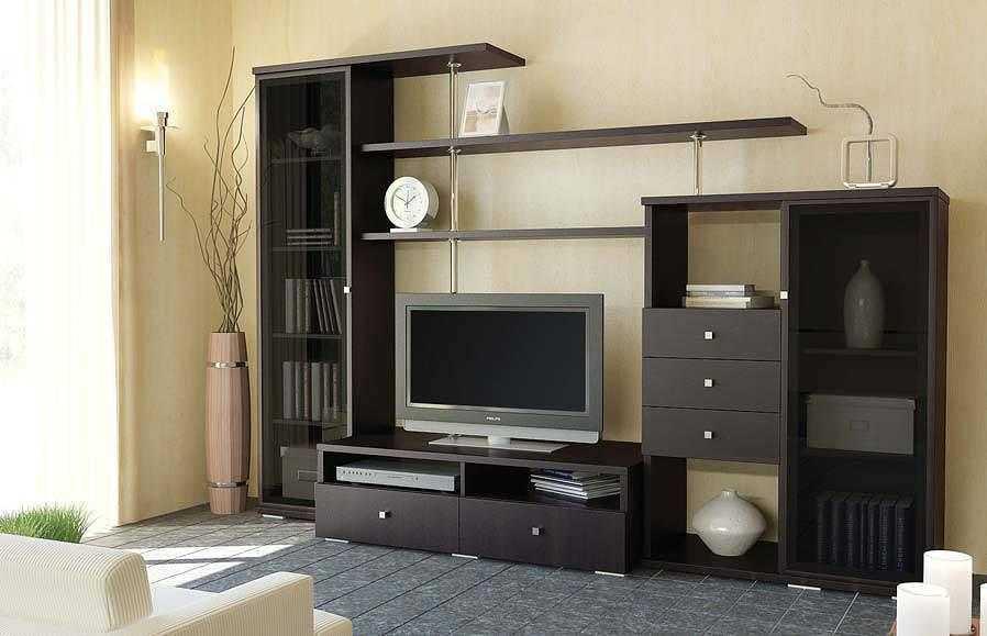 Стенки под телевизор со шкафами под одежду 167