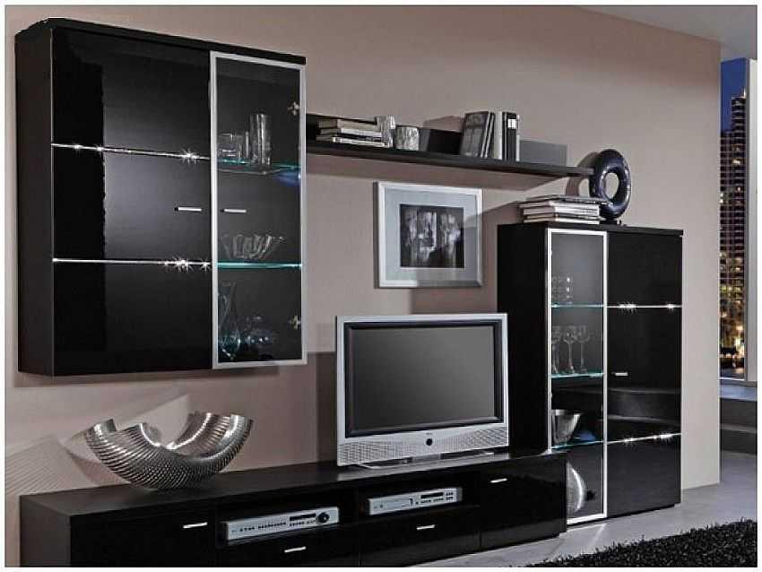 стенки горки в гостиную виды стили выбор фото