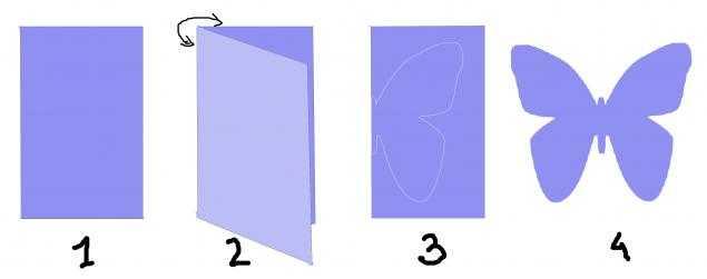 Как сделать красивую бабочку из бумаги