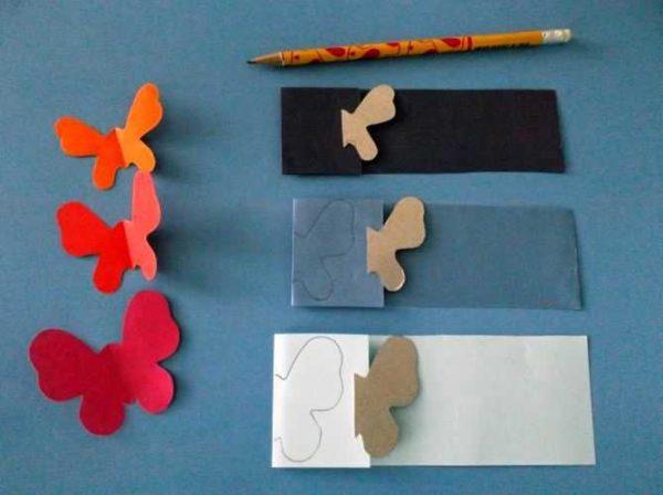 Сделать шаблон, по которому затем изготавливать одинаковых по размеров крылатых насекомых