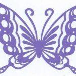 Лекала для вырезания бумажных бабочек