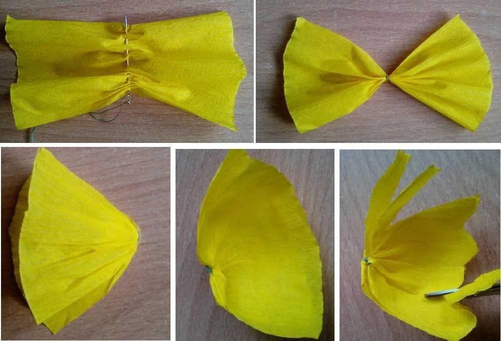 Гофрированные бабочки из бумаги на стену своими руками 2