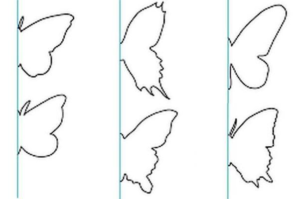 Шаблоны бабочек из бумаги для декора