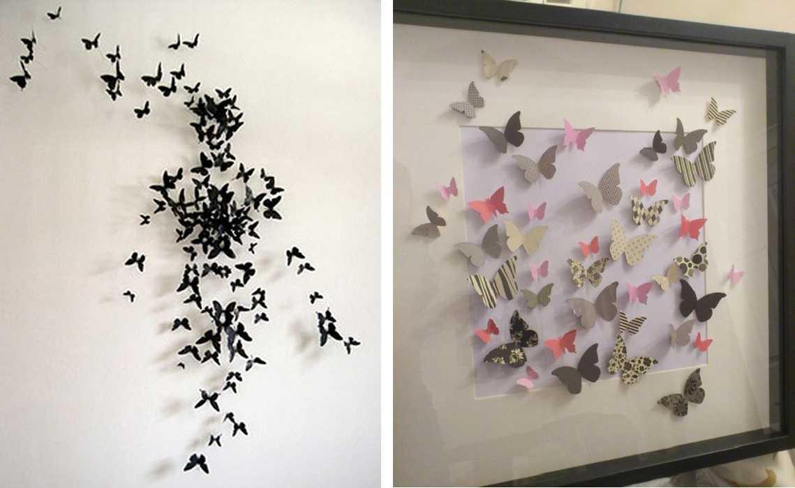 Декор стен бабочками своими руками трафарет 42