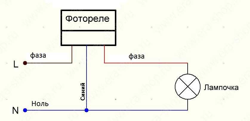 Включения уличного освещения схема
