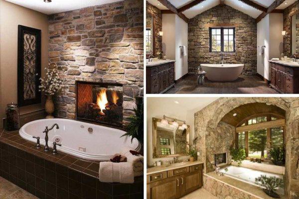 Варианты отделки ванной комнаты натуральным камнем
