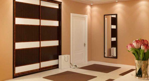 Встроенный шкаф занимает нишу или часть помещения от стены до стены