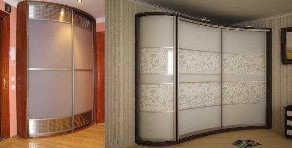 Со стеклянными дверками даже массивная конструкция смотрится не такой тяжелой