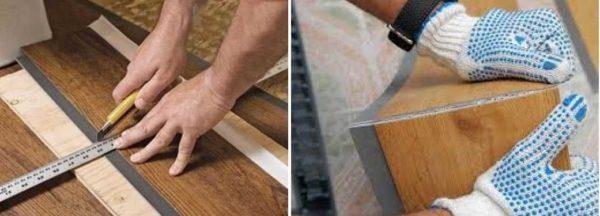 Режется плитка ПВХ для пола обычным ножом, потом ломается