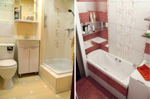 Дизайн ванной 2 метра может в современном стиле