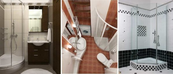 Разные варианты душевых кабин для ванной маленькой площади