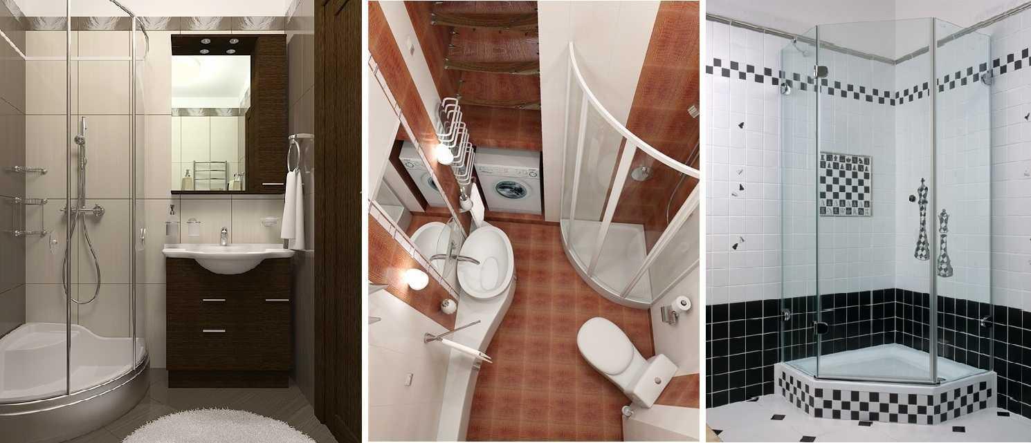 Ванная комната 3 кв.м с душевой кабиной дизайн