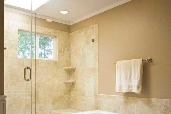 Бежевая краска для ванной комнаты - классический выбор