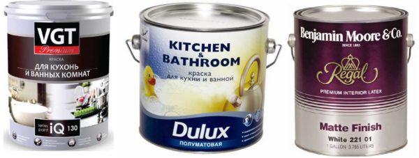 Водостойкая краска для ванной комнаты может быть разной