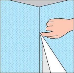 Как клеить внутренний угол стеклообоями