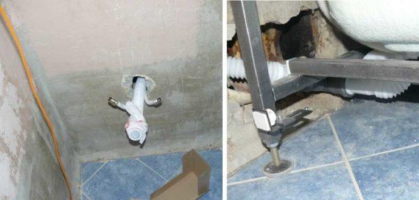 Подключение воды и канализации