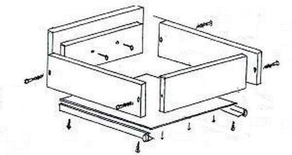 Как собрать кухонный гарнитур: схема сборки выдвижных ящиков