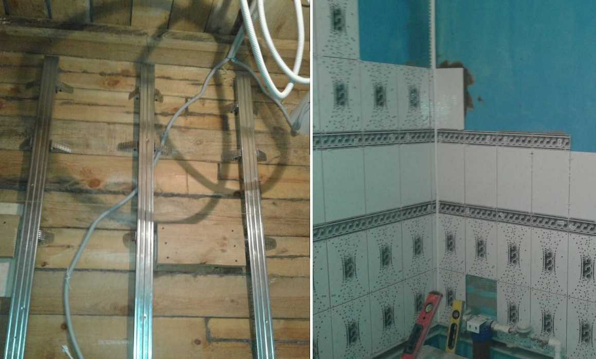 Как сделать обрешетку для стен в ванной