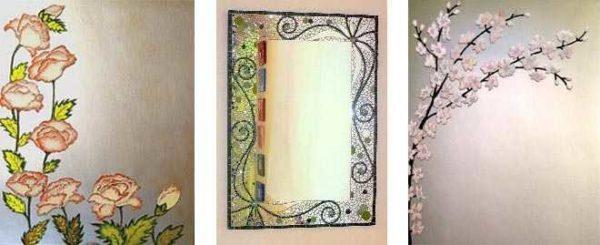 Декор зеркала без рамы