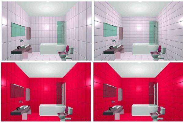 Разница в вертикальной и горизонтальной укладке заметна лишь на светлой плитке с контрастными швами