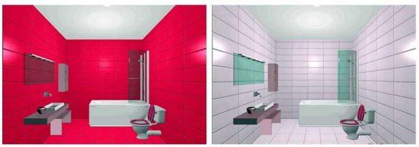 Светлые стены делают помещение более просторным