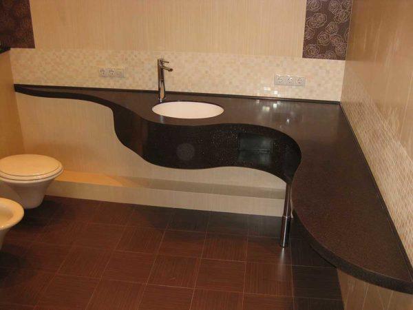 Влагостойкая столешница для ванной из МДФ