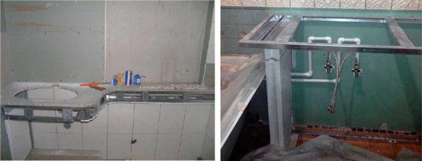 Столешница в ванную под раковину: выбор и самостоятельное изготовление