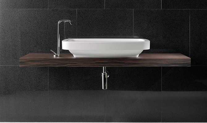 Из чего столешница для ванной комнаты под раковину Мойдодыры искуственный камень Ерново