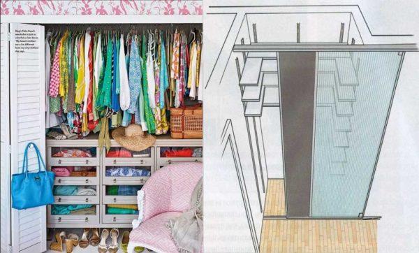 Два вида дверей для экономии пространства - раздвижные (откатные) и книжка