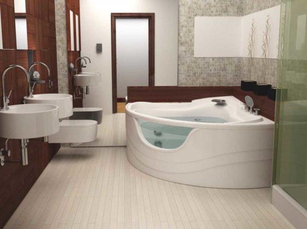 Если хотите выбрать акриловую ванну нестандартного вида, у Апполло есть со стеклянными вставками