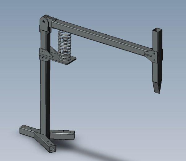 Конструкция пружинного дровокола