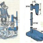 Дровокол механический вертикальный: чертеж с размерами